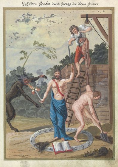 Occult Art Compendium Rarissimum, Folio 14 (c1775). Fine Art Print/Poster. Sizes: A4/A3/A2/A1 (0040)